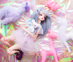 Join the magic! (Pliash) Tags: doll cute kawaii bjd girl magical unicorn unicornio alpaca lhama bambi cervo bear teddy crybaby felt plushie artesanato handmade animals animal sleepy