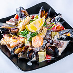 Salad with shrimp, octopus, mussels and vegetables thumbnail