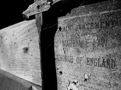 (danjamesphotography) Tags: church sign weathered wood letters