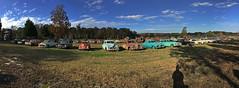 Car Graveyard (davidwilliamreed) Tags: old rusty crusty metal cars abandoned neglected forgotten rust decay patina panorama pano iphone rural country weathered simpsonfarm hallcountyga