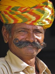 jodhpur 2015 (gerben more) Tags: people portrait portret man moustache jodhpur rajasthan turban oldman india