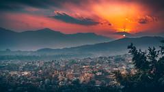 Kathmandu Valley Sunset (Iftakhar Hasan) Tags: asia nepal kathmandu swayambhunath kathmanduvalley mountain valley sunset sky cloud goldenhour landscape sony sonyα6300 sonyepz18105mmf4goss