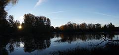 mud lake sunrise (thomas.erskine) Tags: 20181026dsc02207teestitch 2018 oct fall autumn sunrise skyline silhouette mudlake lake ottawa