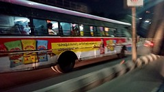 Close encounter with an Indian bus in endless traffic (paulinuk99999 (lback to photography at last!)) Tags: paulinuk99999 india hyderabad bus traffic motion xperia smartphone