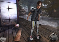 LOTD 326 (Brendo Schneuta) Tags: kalback jeans bleich sneakers chuck shirts jacket locktuft hair tatto hoverboard pose poses decoration patane glasses equal10 tmd on9 event events fatpack releases new mens male boy moda estilo fashion style secondlife second secondlifeblog blog blogger bloggersl sl keepcalm catwa bento brendo
