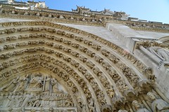 The portal of the judgment, Notre-Dame Cathedral, Paris (Tatiana12) Tags: paris notredame france gothic frenchgothic judgment portal doorway