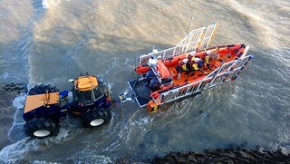 Porthcawl RNLI training launch