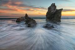 Swirls and Twirls (RichGreenePhotography.com) Tags: california pacificcoasthighway elmatadorstatebeach pch calendar seastacks pacificocean lowtide longexposure sunset sand surf waves sun