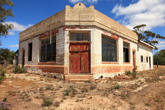 Clarke's Corner Store Cowangie (Darren Schiller) Tags: cowangie abandoned australia architecture building closed corner derelict disused decaying deserted dilapidated decay door empty facade history heritage commercial mallee old rural rustic ruins smalltown shop store