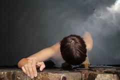 in cold water (esgibtnixgutesaußermantutes) Tags: sommer summer inestate acqua wasser water quarry girlfriend steinbruch baden freundin girl amica cava naked