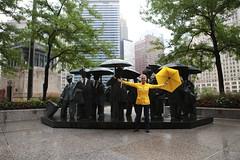 Under a Yellow Umbrella (Symbiosis) Tags: yellow umbrella yellowumbrella chicago rain oregon cannonbeach cannonbeachoregon underanumbrella umbrellaintherain foolintherain beach umbrellaonthebeach oregoncoast chicagointherain boots rainboots funintherain womanintherain