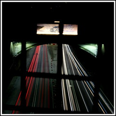 into the tunnel (gav7n76) Tags: manfrotto canon wallasey liverpool ford mersey tunnel wirral lights cars slowshutter