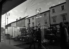 Cracked Pane (Bury Gardener) Tags: burystedmunds bw blackandwhite britain suffolk street streetphotography snaps streetcandids strangers candid candids people peoplewatching folks 2018 buttermarket