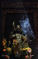 Statue (fredericpecheux) Tags: statue temple fumee vietnam asia canon flowers smoke