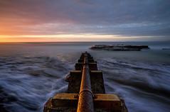 Pipe Dreams (Emerald Imaging Photography) Tags: portkembla wollongong wollongongharbour pipe portkemblapool sunrise seascape clouds longexposure le nsw newsouthwales syd australia australian australianlandscape waves rocks beach