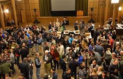 Opening reception in Merrill Hall (afagen) Tags: california pacificgrove asilomarconferencegrounds montereypeninsula asilomar gsa geneticssocietyofamerica fungalgeneticsconference conference