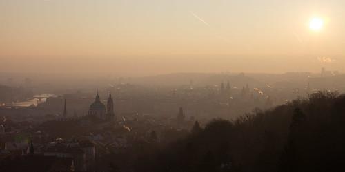 Sunrise over the golden city