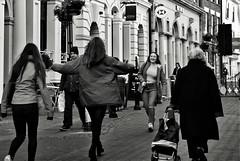 Friends (Bury Gardener) Tags: streetphotography suffolk street streetcandids snaps strangers candid candids people peoplewatching folks nikond7200 england eastanglia uk burystedmunds bw blackandwhite britain monochrome mono 2019 abbeygatestreet