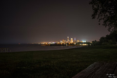 City across the Erie (yarnim) Tags: cityscape nightcity nightscape landscape lowlight longexposure sony rx1 sonyrx1 carlzeiss 35mm water lake greatlakes cleveland ohio downtown skyline park edgewaterpark