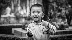 Nice to meet you (#Weybridge Photographer) Tags: canon 5d mk ii mkii eos slr dslr adobe lightroom nepal kathmandu portrait boy child monochrome