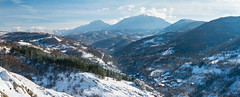 Snowed in (Milos Golubovic) Tags: jelasnica srbija serbia nis suva planina dry mountain snow sun pano nikon d7100 35mm village sunlight gorge klisura ridge