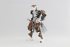 Kaiyzo (Ron Folkers) Tags: lego bionicle moc custom brown white black swords weapons