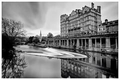 Bath from Pulteney Brdige (Andy J Newman) Tags: reflection longexposure silverefex monochrome nikon d810 blackandwhite bath england unitedkingdom gb