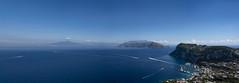 View to blue (the-father) Tags: view panorama bluesky blue cloud mediterranean sea harbour capri anacapri vesuvio ship italy villamichele axelmunthe