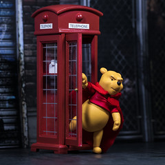 Winne the Pooh is Super Ted (Jezbags) Tags: winne pooh super ted winniethepooh disney phonebox cape bear canon canon80d 80d 100mm closeup upclose macro macrophotography mac macrodreams toy toys