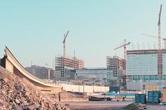 Newest Pasila In 2018 (pni) Tags: sky crane building construction site sand gravel homunculi concrete steel container bridge pasila böle helsinki helsingfors finland suomi pekkanikrus skrubu pni tripla