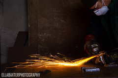 More sparks! (ellabaxter15) Tags: welder william northernireland sparks anglegrinder canoneos1200d university amateurphotographer workshop project documentary 2018 october photography
