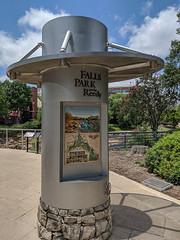 Falls Park Marker (Joey Hinton) Tags: falls park reedy river waterfall bridge google pixels android smartphone cellphone cameraphone greenville south carolina