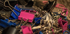 there's no such thing as too much stationery (Redheadwondering) Tags: minolta100mmf28macrolens sonyα7ii 118picturesin2018 macro 101officestationeryitems 101 stationery bulldogclips pink