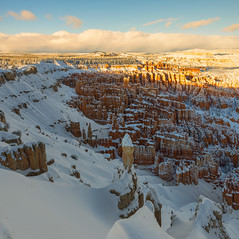 We do not see nature with our eyes, but with our understandings and our hearts… (ferpectshotz) Tags: hoodoos brycecanyon nationalpark utah sunrise sunsetpoint southwest america usa winterstorm morning goldenhour