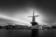 De Adriaan (alowlandr) Tags: windmill adriaan haarlem spaarne river waterfront longexposure blackandwhite residentialdistrict city historical cloudsky