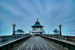 ghosts on the pier... (Jess Feldon) Tags: clouds bigstopper le winter victorianpier coast gradelisted clevedonpier pier clevedon jessfeldon longexposure sky people blur estuary severnestuary somerset