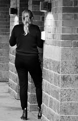 6Q3A7705 (www.ilkkajukarainen.fi) Tags: fotografiska museum portrait potretti blackandwhte monochrome mustavalkoinen woman nainen tukholma stockholm visit travel travelling happy life