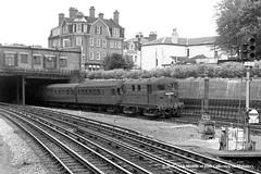 24/07/1957 - Harrow-on-the-Hill. (53A Models) Tags: londontransport metropolitanrailway bobo 5 johnhampden electric passenger underground harrowonthehill london train railway locomotive railroad