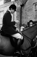 Wretched phones - they get everywhere! (judy dean) Tags: velvet56 2019 judydean lensbaby hunt meet horse huntsman rider mobile phone