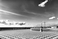 Terrazza Mascagni-Livorno (tropposnello) Tags: landscape urban urbanlandscape italia italy tuscany mare scacchiera chess scacchi terrazza piazza elegance blackandwhite biancoenero paesaggio paesaggi architetture toscana livorno terrazzamascagni