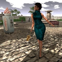 Nicole (Algezares (III)) Tags: glitterposes glitter mesh swank mybags secondlife elegance dress leather maitreya genus