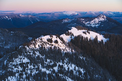 notadrone (ashtenphoto) Tags: mountains peaks peak sunset climbing mt rainier national park high rock lookout alpenglow