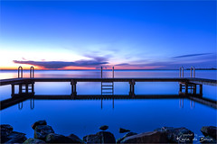 Blue monday! (karindebruin) Tags: thenetherlands nederland ouddorp ouddorphaven water sunrise longexposure jetty steiger blue bluemonday