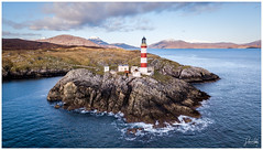 Light in the West (ShaunXVII) Tags: eilean glas scalpay isleofharris harris lighthouse beacon coast cliffs rocks sea ocean theminch winter outerhebrides westernisles scottishislands highlandsandislands landscape landscapes drone mavic scotland