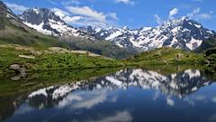 Lac du Lauzon (Hautes-Alpes) (rogermarcel) Tags: réflexion reflection montains montagnes panoramic panorama landscape paysage lac waterscape rogermarcel