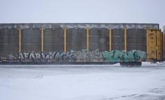 Learn/Lack/Mes/Ich (quiet-silence) Tags: graffiti graff freight fr8 train railroad railcar art learn lack mes ich ichabod yme circlet autorack ttgx253541