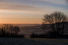 Frosty sunrise near Bradninch