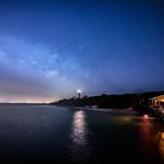 The Milky Way over the Sanibel Lighthouse as seen from the Sanibel Fishing Pier, Sanibel Island, Florida thumbnail