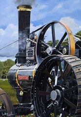 Golden Harvest (Ian.W.Matthew) Tags: steam engine painting acrylic traction farming agriculture