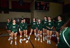 IMG_3180 (SJH Foto) Tags: girls high school volleyball bishop shanahan hempfield state pool play championships canon 1018 f4556 stm superwide lens pregame ceremonies ref referee captains coin toss huddle cheer